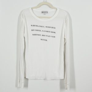 Wildfox White Winter Long Sleeve Thermal Top M
